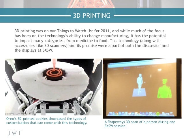 3D printing was on our Things to Watch list for 2011, and while much of the focus has been on the technology's ability to ...