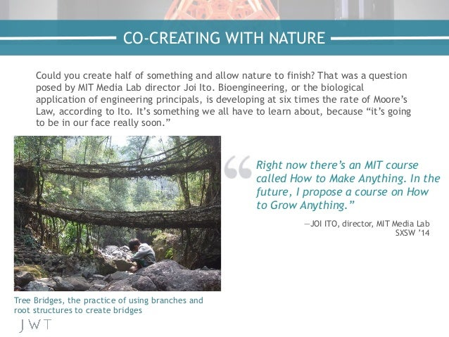 Could you create half of something and allow nature to finish? That was a question posed by MIT Media Lab director Joi Ito...