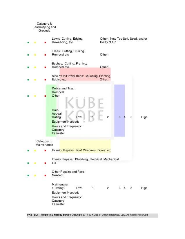 FKB - BL7 PROPERTY & FACILITY SURVEY Slide 2