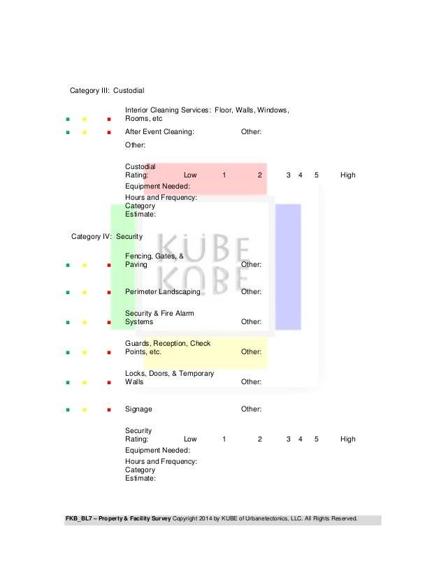 FKB - BL7 PROPERTY & FACILITY SURVEY Slide 3
