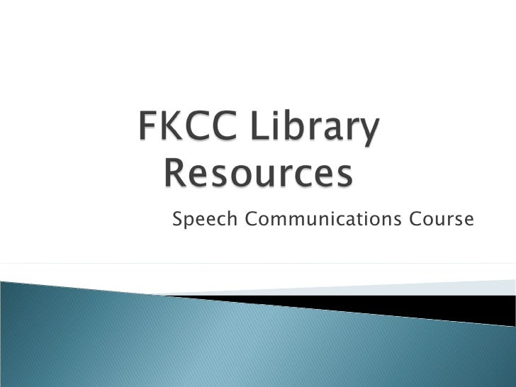 Speech Communications Course