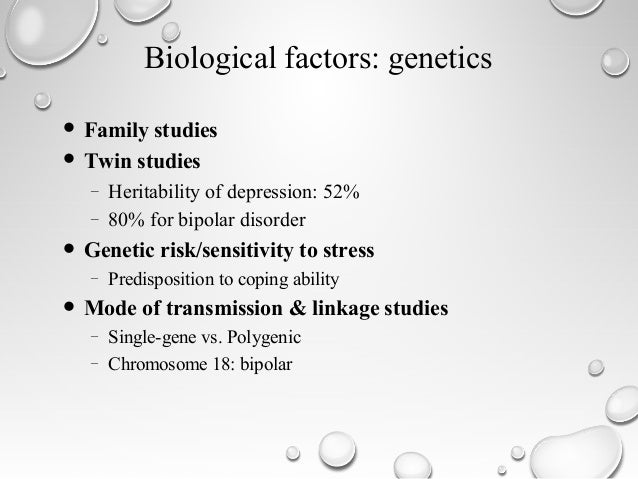 Bipolar disorder and genetic predisposition