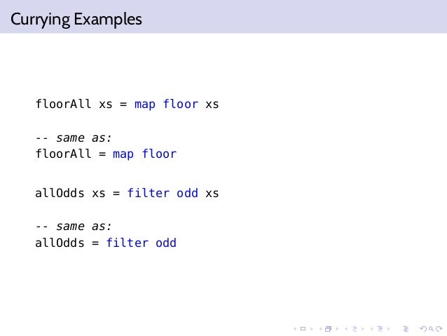 Functional programming function closures for Floor function example