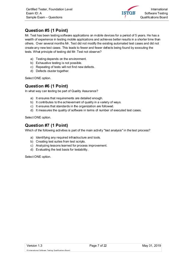 Istqb Foundation Level Mock Exam 2