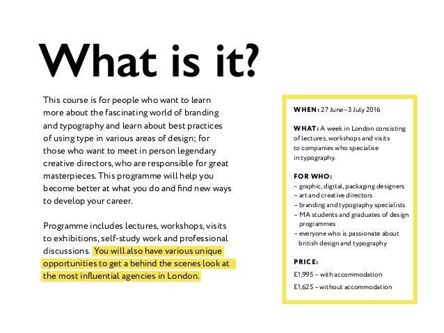Typography and Branding Week in London Slide 2