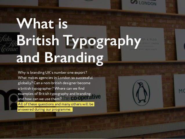 Typography and Branding Week in London Slide 3