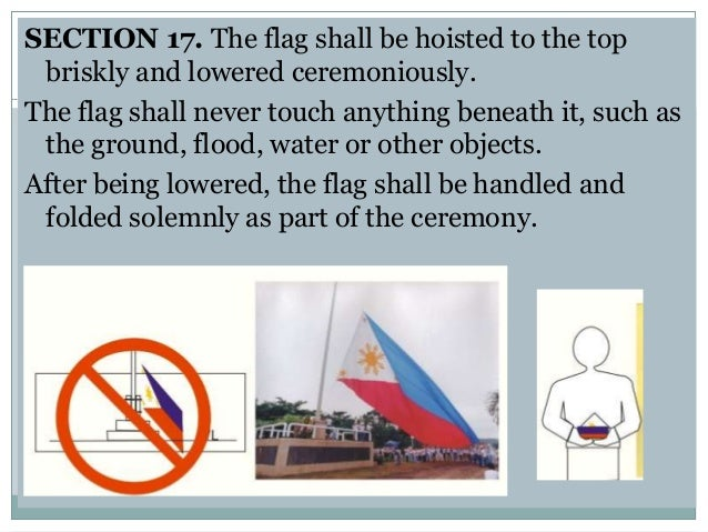 heraldic code of the philippines The national flag of the philippines (filipino:  for the 1998 independence centennial celebrations, the flag and heraldic code of the philippines (ra 8491).