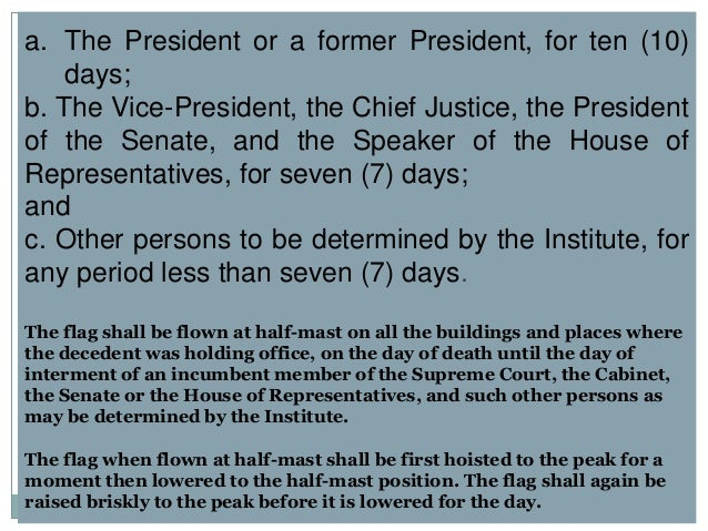 "Republic Act No. 8491 or the ""Flag and Heraldic Code of the Philippines"""