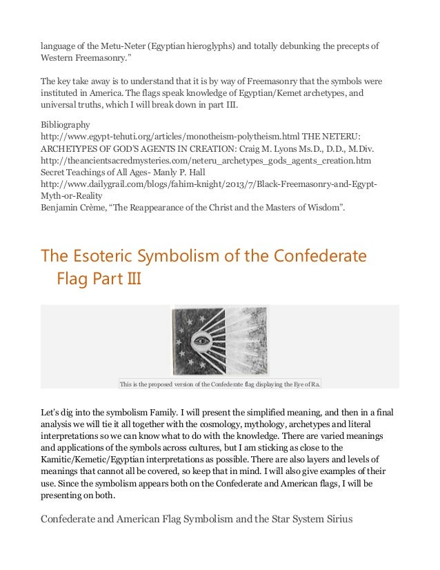 The Esoteric Symbolism Of The Confederate Flag