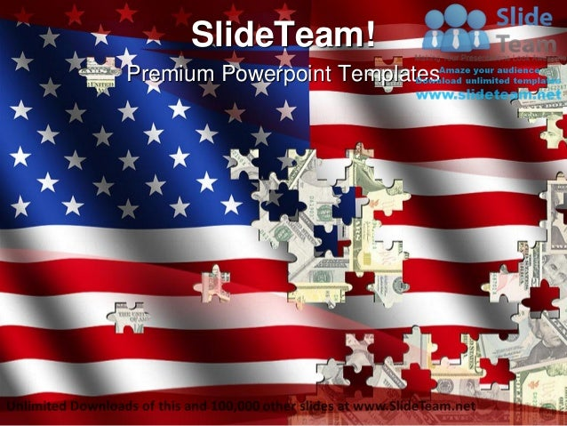 Flag and dollar puzzle shapes americana power point templates themes premium powerpoint templates toneelgroepblik Image collections