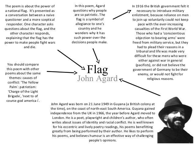 flag essay john agard