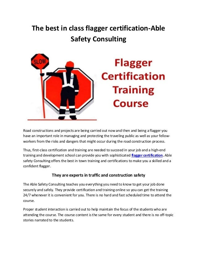 Flagger Certification Training Course