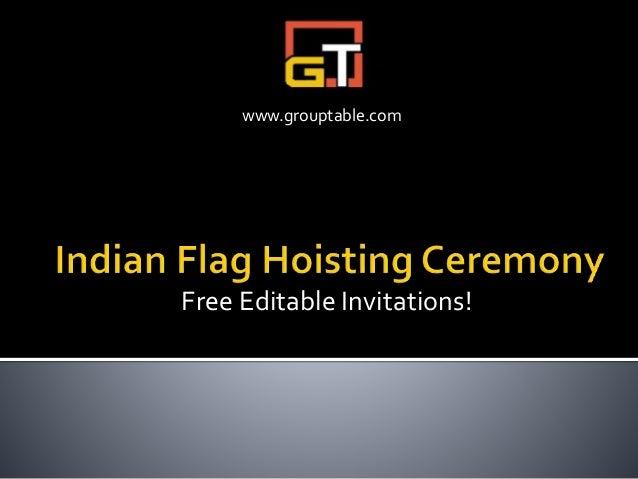 Free Editable Invitations! www.grouptable.com