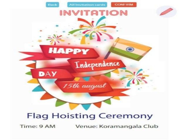 Free Indian Flag Hoisting Ceremony Invitation Cards