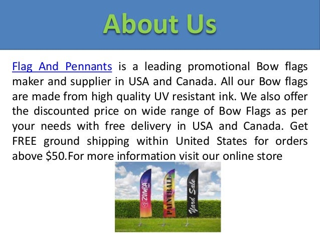 Bow Flags | Custom Flags: Street Flag