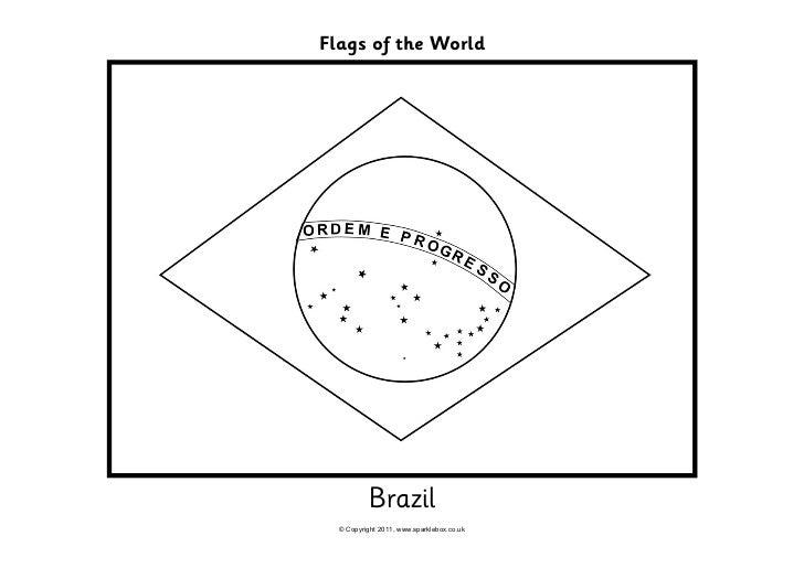 Bandera De Brasil Para Colorear: Free Colouring Pages