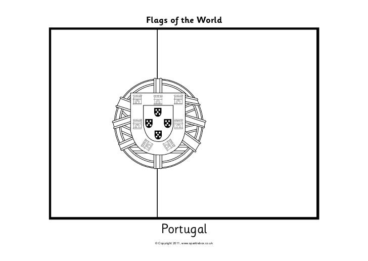 Portugal flag coloring pages printable portugal best for Portugal flag coloring page