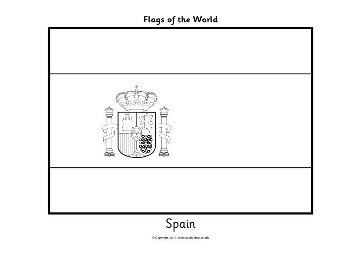 Flags Coloring Flag Of Spain Coloring Page