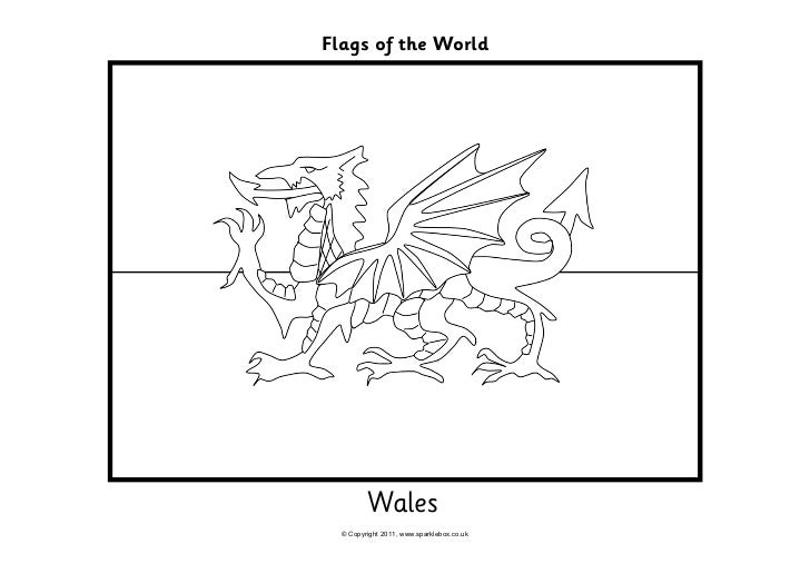 Wales Coloring Page
