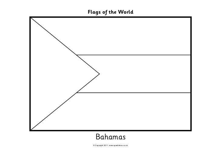 95 Bahamian Flag Coloring Page