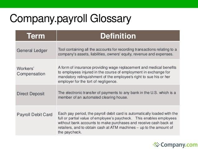 Payroll Processing by Company.Payroll