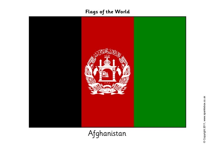 Afghanistan                                         Flags of the World© Copyright 2011, www.sparklebox.co.uk