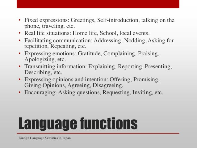 Foreign language activities in japan and indonesia language functions fixed expressions greetings m4hsunfo