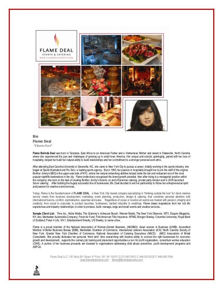 Bio  Flame Deal                          Flame Belinda Deal was born in Tanzania, East Africa to an Ameri...