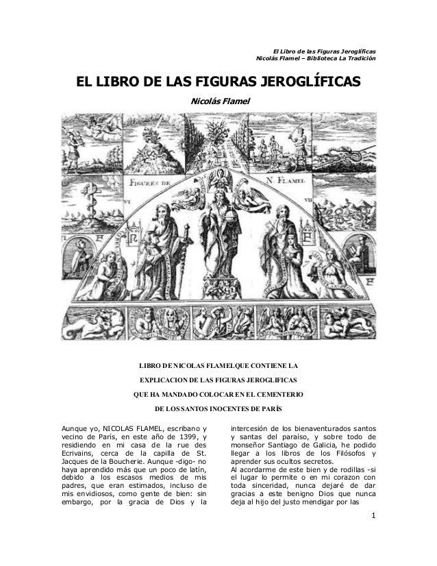 Flamel el libro de las figuras jerogaficas
