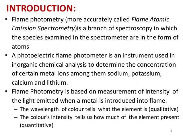 flame photometry View flame photometer, details & specifications from hpg systems, a leading manufacturer of flame photometer in industrial area, phase 2, chandigarh, chandigarh get contact details, address, map on indiamart.