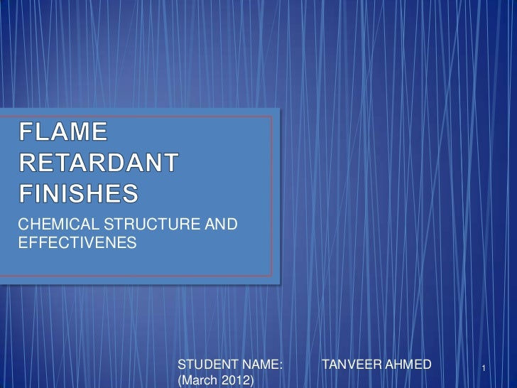 CHEMICAL STRUCTURE ANDEFFECTIVENES               STUDENT NAME:   TANVEER AHMED   1               (March 2012)