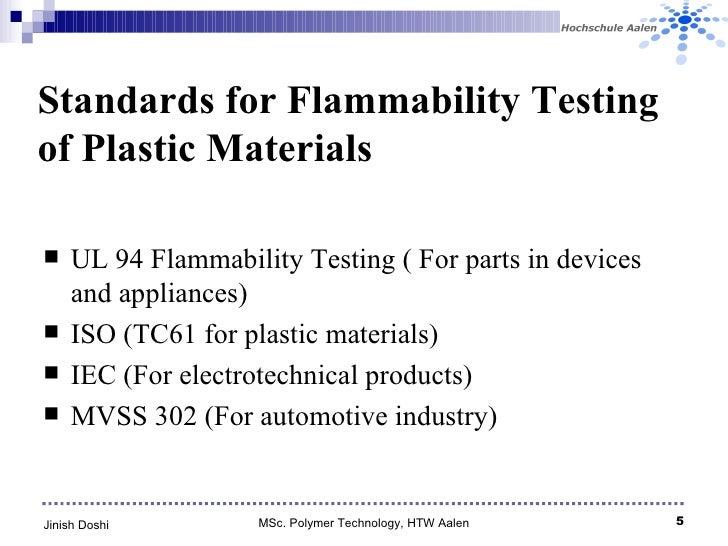 Flammability Testing Of Plastics Jinish Doshi