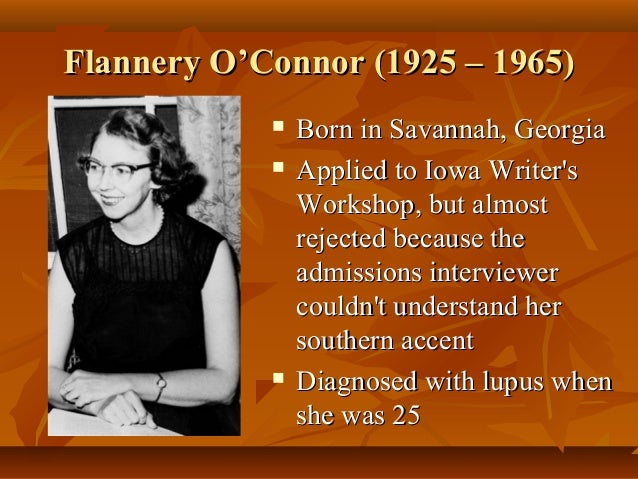 flannery oconnor use of irony Brad gooch's recent biography flannery: a life of flannery o'connor from little, brown, and company has won both excellent reviews and opprobrium in journals and reviews around the world.