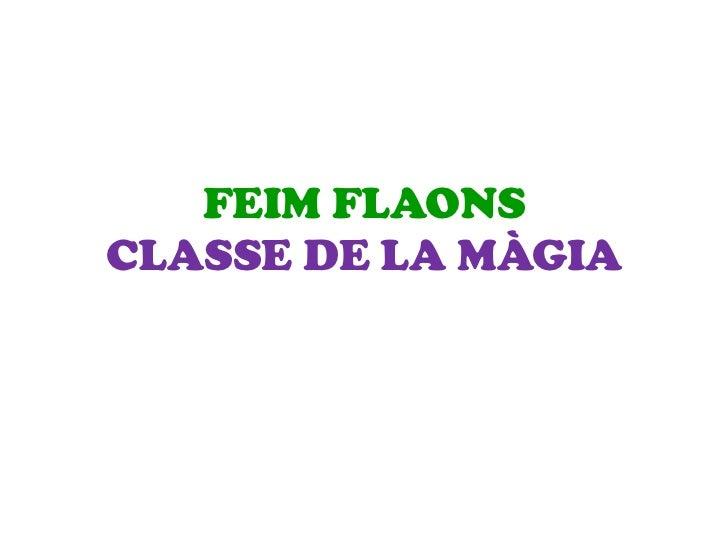 FEIM FLAONSCLASSE DE LA MÀGIA