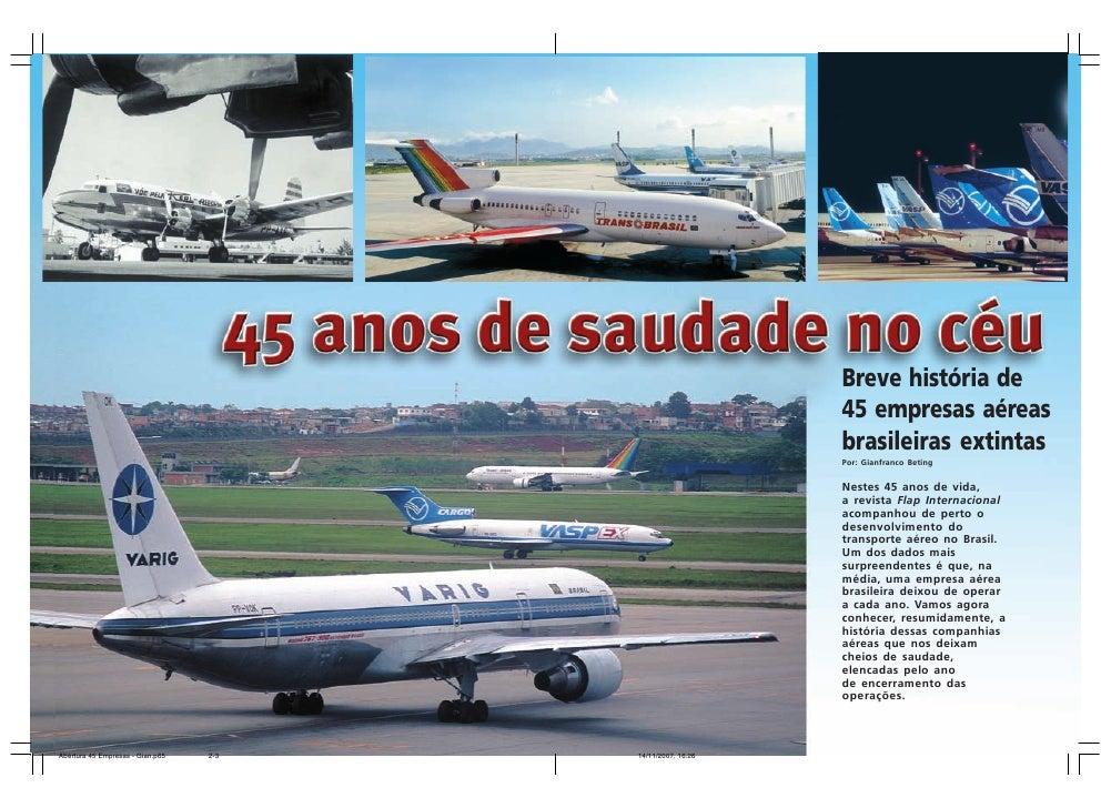 Breve história de                                                            45 empresas aéreas                           ...