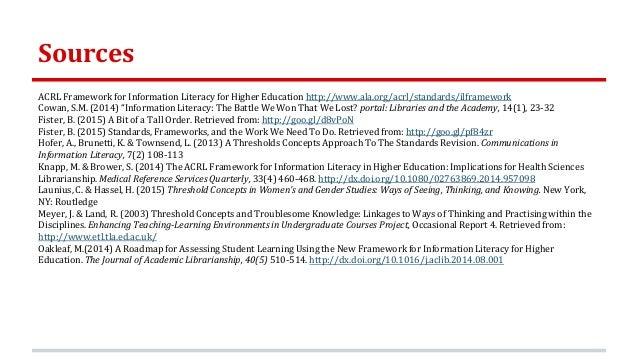 information literacy standards – ACRLog