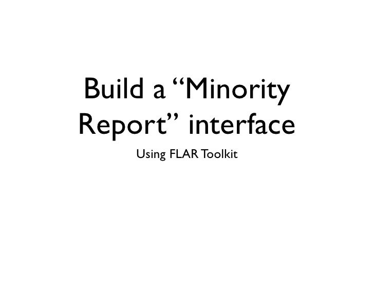 "Build a ""Minority Report"" interface     Using FLAR Toolkit"