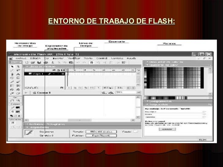 ENTORNO DE TRABAJO DE FLASH: