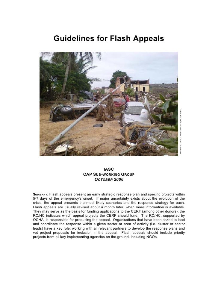 Guidelines for Flash Appeals                                                                                              ...