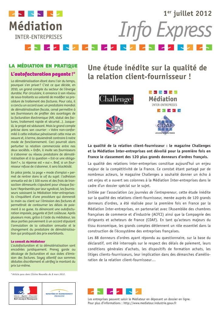 1er juillet2012                                                                            Info ExpressLA MÉDIATION EN PR...