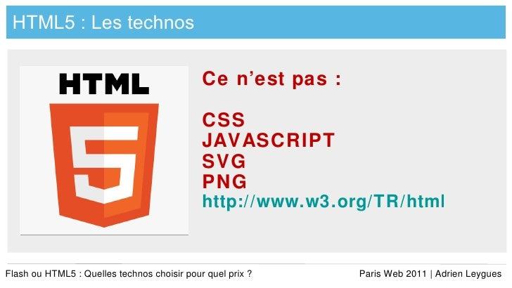 Flash vs-html5-adrien-leygues-pw-2011 Slide 2