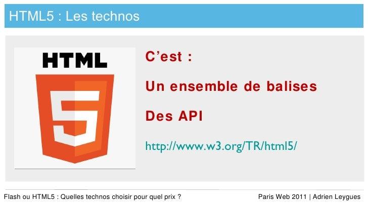 Flash vs-html5-adrien-leygues-pw-2011 Slide 3