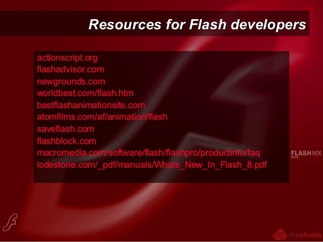 Intro to Flash 8 welcome & course outline (2008)