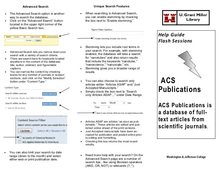 ACS Publications Home Page