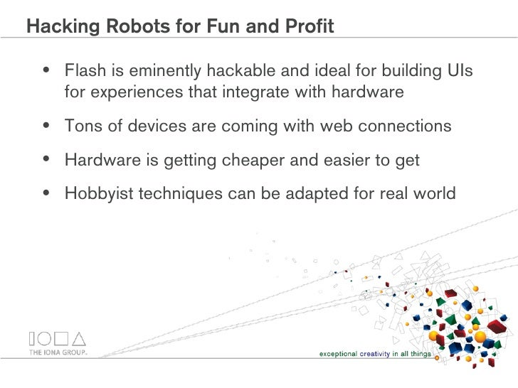 Hacking Robots For Fun And Profit