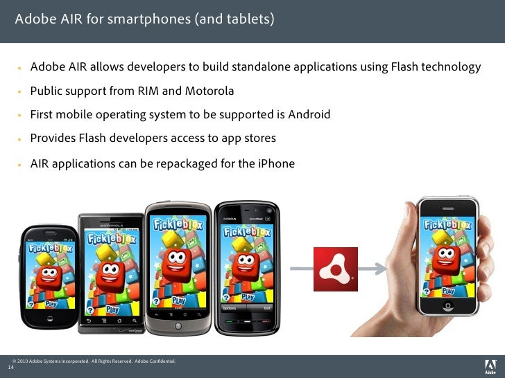 Adobe AIR for smartphones (and tablets)           Adobe AIR allows developers to build standalone applications using Flas...