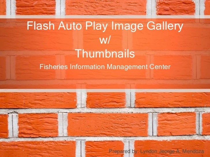 Flash Auto Play Image Gallery              w/         Thumbnails  Fisheries Information Management Center                 ...