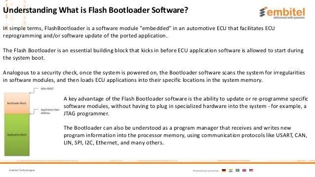 What is Flash bootloader software Slide 2