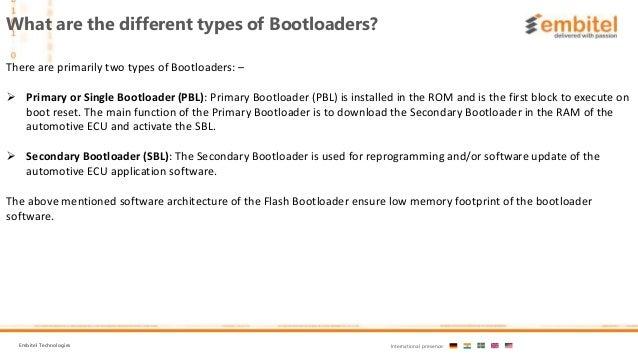 What is Flash bootloader software Slide 3