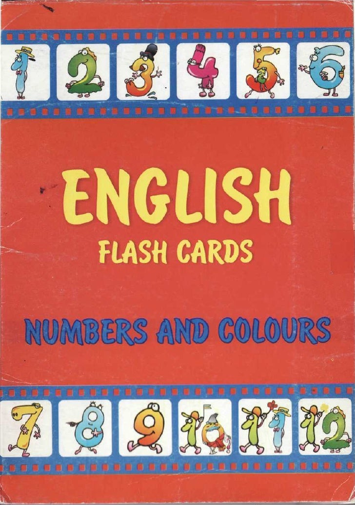 Flash Cards  Numbers And Colours